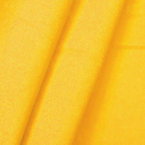 STOFFKONTOR 100% Baumwolle Canvas Stoff Meterware Gelb -