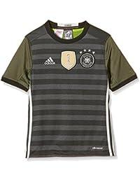 adidas UEFA EURO 2016 DFB - Camiseta para Niños, color Gris (Dark Grey Heather/Off White/Base Green S15), talla 176 (para 15-16 años)