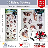 Fun Stickers 3D Rainforest Sloths & Tigers 1516