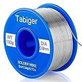 Tabiger filo per saldatura, senza piombo saldatura Rosin Core filo di stagno 97sn-2rosin-0.7cu-0.3ag, 0.8mm, 100g