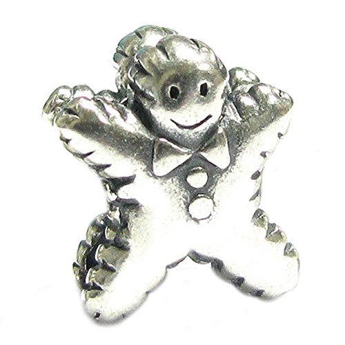 Queenberry Charm-Anhänger Sterling-Silber 925 Ginger Cookie