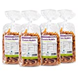 Protein Nudeln - Neue Rezeptur - 61% Eiweiss - Nur 15% Kohlenhydrate - Eiweiß Pasta - Made in Germany (4 x 250g)