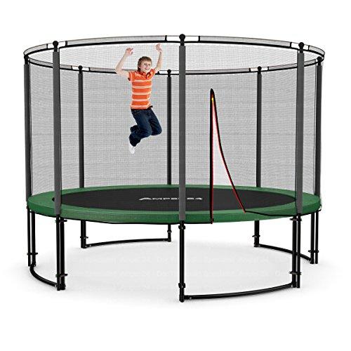 Ampel 24 Deluxe Outdoor Trampolin 366 cm Komplettset mit Netz | Gartentrampolin mit dem Maximum an Sicherheit | Sicherheitsnetz mit 8 Stangen | Belastbarkeit 160 kg