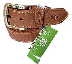 Wood Land Mens Camel Brown Genuine Leather Casual Belt for Men ( Size: 44 )