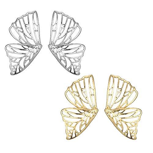 hmetterling Ohrringe, Damenschmuck Mädchenschmuck Legierung Hohle Ohrringe für Damen Mädchen, 2 Stück Geburtstagsgeschenk ()