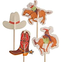 Wild West Cowboys Cupcake Pick Toppers (Pack of 24)