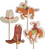 Wilden Westen Cowboy-Kuchen-Toppers (Packung mit 24)