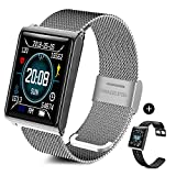 Fitness Tracker, TECKEPIC Smartwatch IP67 Wasserdicht Armbanduhr mit Pulsmesser 1,3 Zoll Farbbildschirm Aktivitätstracker Pulsuhren Schrittzaehler Uhr für Damen Herren