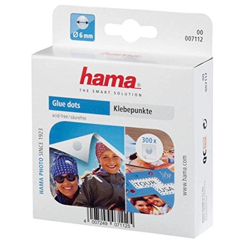 Hama Klebepunkte (300 Fotokleber, doppelseitig selbstklebend, Klebepads rund, ø 6 mm), transparent (Kleinen Kreis Anzahl Aufkleber)