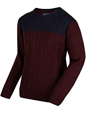 Regatta Mens Koby Acrylic Cable Knit Crew Neck Pull Over Casual Jumper