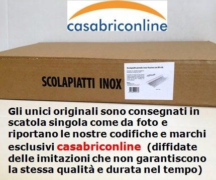 SCOLAPIATTI PENSILE INOX CM. 76 DA INCASSO CON RACCOGLI GOCCE
