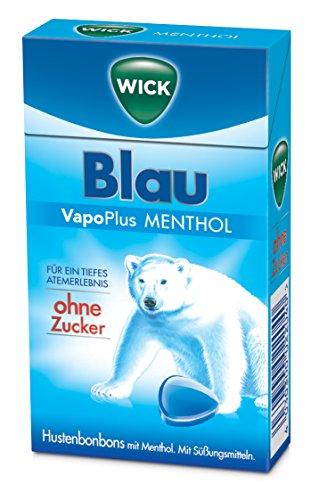 WICK Blau Menthol ohne Zucker, 10er Pack (10 x 46 g)