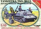 Mirage Hobby 35515 - Tankette TKS/MG 15 mit Universal Transportanhänger, Panzer