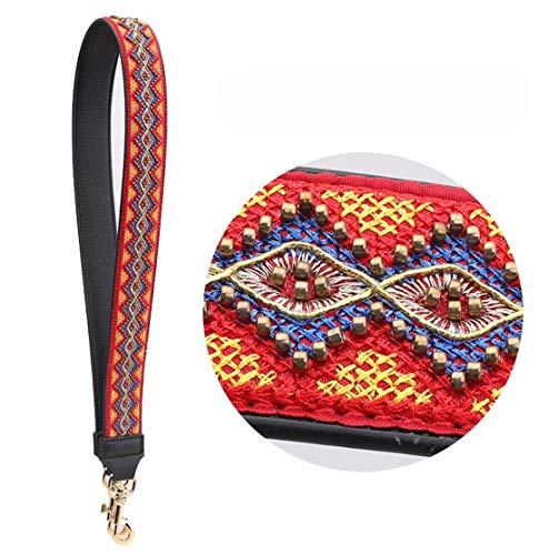 Women Leather Bag Strap Fashion Embroidery Flower Design Lady Shoulder Strap Easy Matching Bags Belts Q0153 MinZu Feng