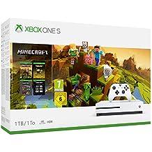 Xbox One S - Consola de 1 TB, color blanco + Minecraft Creators