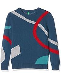 United Colors of Benetton 1032Q, Pull Garçon, Bleu (Navy), 3 - 4 ans (Taille Fabricant: XXS)