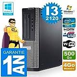 PC Dell 390 DT Core I3-2120 RAM 4GB Scheibe 500 gb Wifi W7