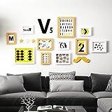 SX-ZZJ Multi Bilderrahmen Set Wohnzimmer Schlafzimmer Fotowand Kreative Kombination Bilderrahmen Wand Massivholz Bilderrahmen Fotowand (Farbe : A)