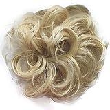 PRETTYSHOP Haarteil Haargummi Hochsteckfrisuren unordentlicher Dutt gewellt VOLUMINÖS platinblond #613 G16A