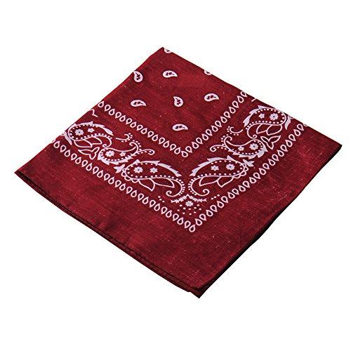 Multifuncional cabeza bufanda Bandana Riding / Ciclismo Head Wrap cuello bufandas al aire libre pañuelo (Red Wine)