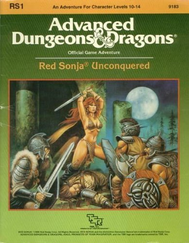 Red Sonja Unconquered (Advanced Dungeons & Dragons Module RS1) by Anne Gray McCready (1986-12-02)