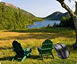 SHAQ The Adirondack Chairs on The Lawn of The Jordan Mouse Pad Tappetini per Il Mouse 8.6 X 7.1 in