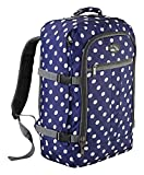 Cabin Max Backpack Flight Approved Carry On Bag Massive 44 litre Travel Hand Luggage 55x40x20 cm (Navy Spot)