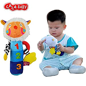LALABABY Baby Early Education Toys Rattles Soft Cloth Hand Rattle Ringing Toy from LALABABY