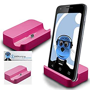 Pink Micro USB Sync & Charge / Charging Desktop Dock Stand Charger For Motorola Droid Turbo 2
