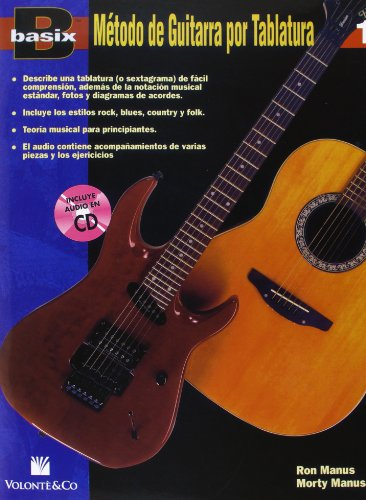 BASIX METODO GUITARRA 1 + CD por Manus Ron/Manus Morty