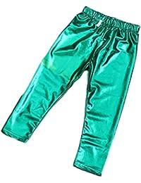 CHRISTYLE bebé-niñas Meryl brillantes sólidas polainas flacas pantalones pantalones