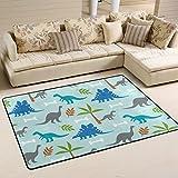 coosun Dinosaurier Bereich Teppich Teppich rutschfeste Fußmatte Fußmatten für Wohnzimmer Schlafzimmer 182.9 x 121.9 cm, Textil, multi, 72 x 48 inch