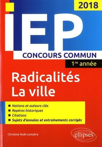Concours commun IEP 2018. 1re année. Synthèse sur les deux thèmes par Christine Noël-Lemaître