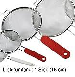 METALTEX Küchensieb 16cm Edelstahl Plastikgriff