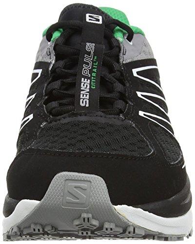 Salomon Herren, Sneaker, sense pulse schwarz (Black/White/Real Green)