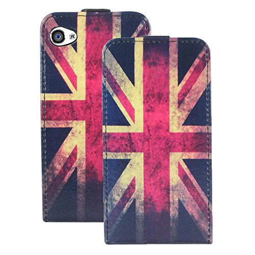 Heartly Designed Premium Luxury Pu Leather Flip Bumper Case Cover For Apple iPhone 4 4S 4G - England Flag  available at amazon for Rs.249