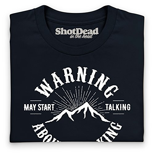 May Start Talking About Walking Langarmshirt Funny Novelty Gift, Herren Schwarz