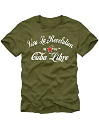 coole-fun-t-shirts Herren t-shirt Viva La Revolution KUBA LIBRE VINTAGE