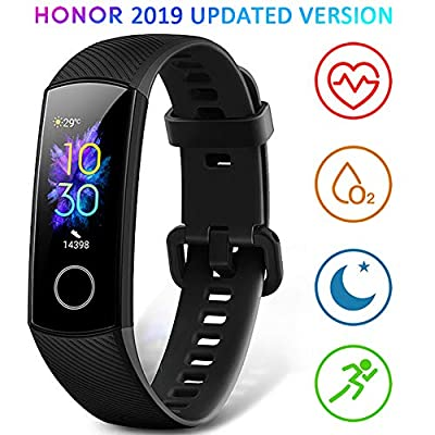 HONOR Band 5 Fitness Trackers HR, Activity Trackers Health Exercise Watch with Heart Rate and Sleep Monitor, Smart Band Calorie Counter, Step Counter, Pedometer Walking for Men Women and Kids from HONOR