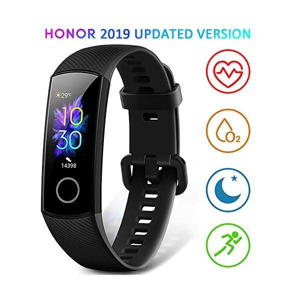HONOR Band 5 Smartwatch Pulsera de Actividad con Pulsómetro Mujer Hombre, Monitor de Actividad Deportiva, Ritmo Cardíaco, Impermeable IP68, Reloj Fitness, con Podómetro 1
