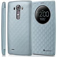 LG G4 Quick Circle, GreatShield [SHIFT LX] [Finestra Tagliare-Su] Diamante Modello con Sleep/Wake PU Pelle Custodia Copertina per LG G4