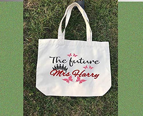Die zukünftige Frau - gedruckte Canvas Tote Bag, personalisierte Canvas Tote Bag, Hochzeitsgeschenke, Bridal Party Geschenke, Strand Hochzeit Brautjungfer Geschenke -