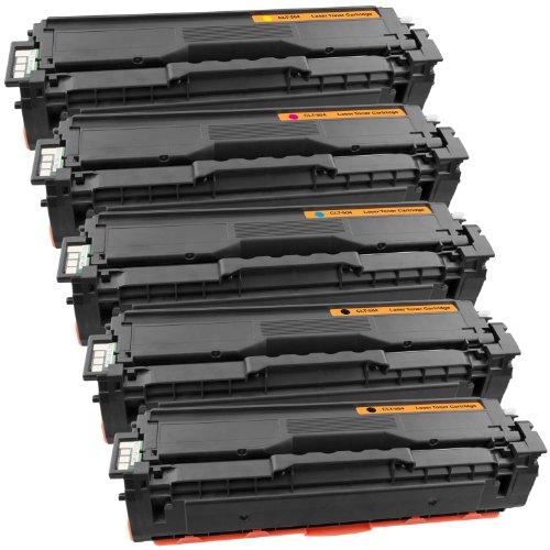 PlatinumSerie® 5 Toner compatible with Samsung CLT-504S Black Cyan Magenta Yellow CLP-415N Xpress C1800 Series C1810W C1860 C1860FW C1860FW Premium Line