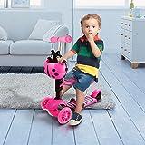 FORIN Kinder 3-Rad Scooter höhenverstellbar Tretroller mit LED leuchten Räder
