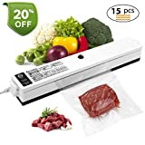 Vacuum Sealer, iLmyh Automatic Food Vacuum Sealing Machine One-Touch Food Saver for Dry