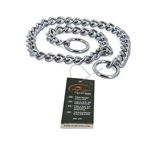 SportDOG Trainingshalsband, Kettenhalsband für Hunde, 66 cm, verchromt