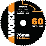 Worx WA5032 76mm 60-Teeth HandyCut All Purpose Replacement Cutting Saw Blade