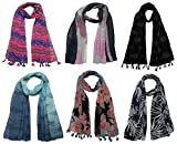 Best Womens Clothes - FusFus Women's Poly Cotton Combo Of 6 Scarves Review