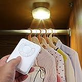 LED Schrank Licht mit Fernbedienung Schrankleuchten Dimmbar Schrankbeleuchtung Batteriebetrieben Schranklampe Nachtlicht (2 Weißes Licht)