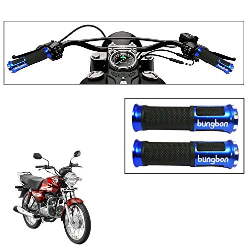 Vheelocityin Blue Bungbon Motorcycle handle Grip Bike Grip For Hero Motocorp Hf Dawn